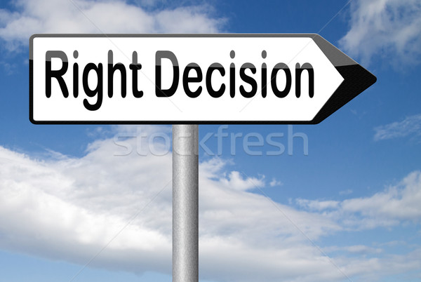 Decyzja wyboru ważny mądry wybierać Zdjęcia stock © kikkerdirk