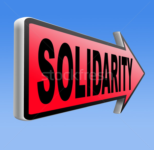 Solidarność ubezpieczenia społeczne międzynarodowych społeczności współpraca bezpieczeństwa Zdjęcia stock © kikkerdirk