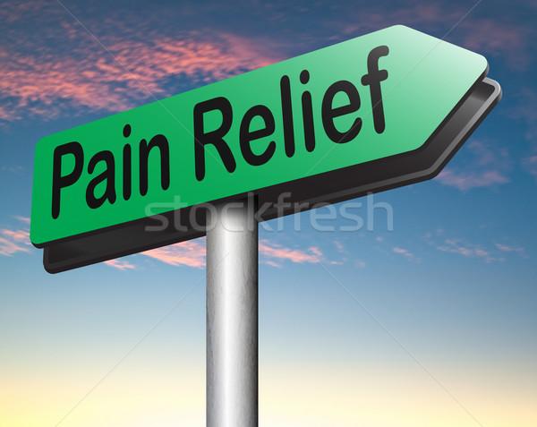 Ból ulga zarządzania środek przeciwbólowy inny leczenie Zdjęcia stock © kikkerdirk