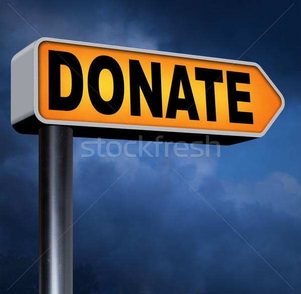 Donar caridad dar trabajo voluntario Foto stock © kikkerdirk