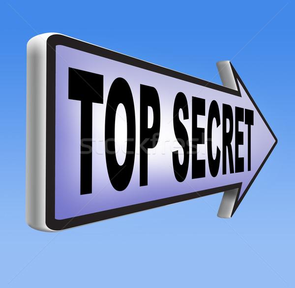 top secret Stock photo © kikkerdirk