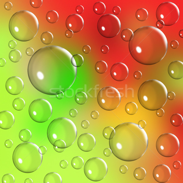 vibrant bubble background Stock photo © kikkerdirk