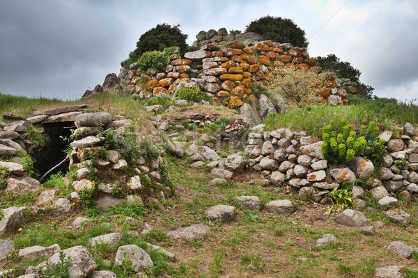 Stock photo: ruins of ancient culture Sardinia Nuraghe tower