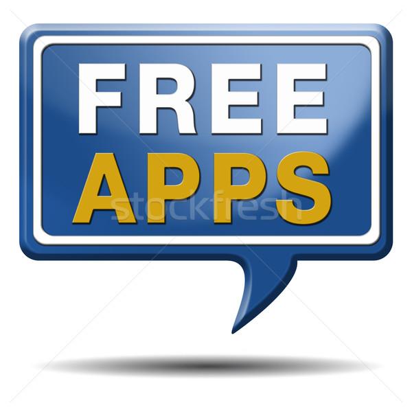 свободный приложения текста шаре бесплатно скачать Сток-фото © kikkerdirk