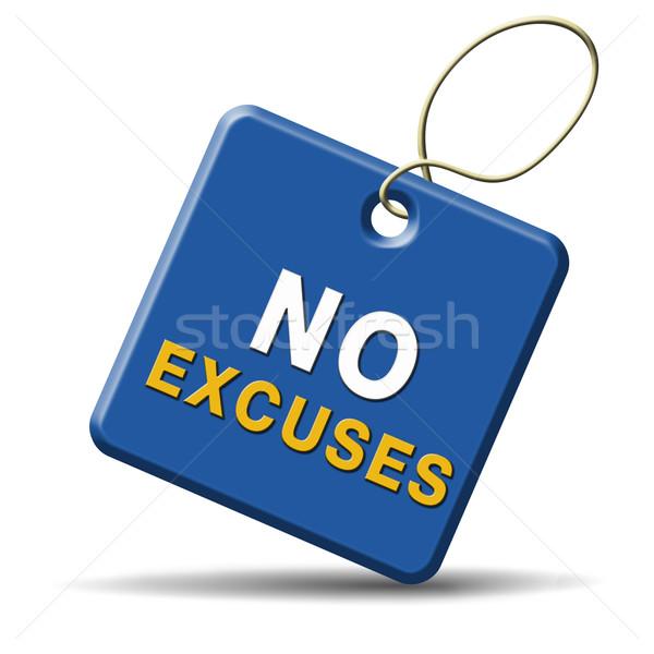 no excuses sign Stock photo © kikkerdirk