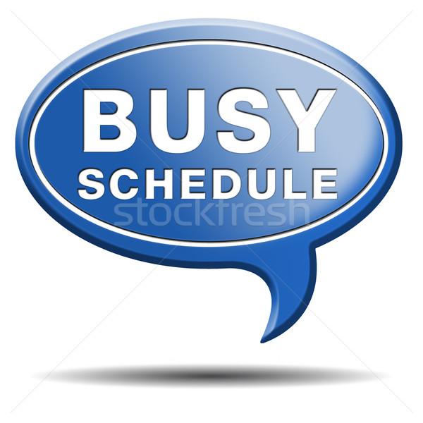 busy schedule Stock photo © kikkerdirk