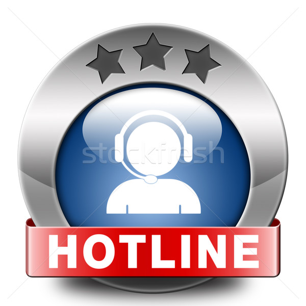Hotline icon call center knop teken Stockfoto © kikkerdirk