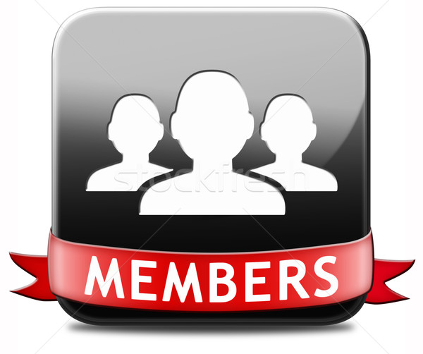 members button Stock photo © kikkerdirk