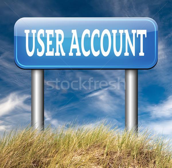ユーザー アカウント オープン メンバーシップ ストックフォト © kikkerdirk