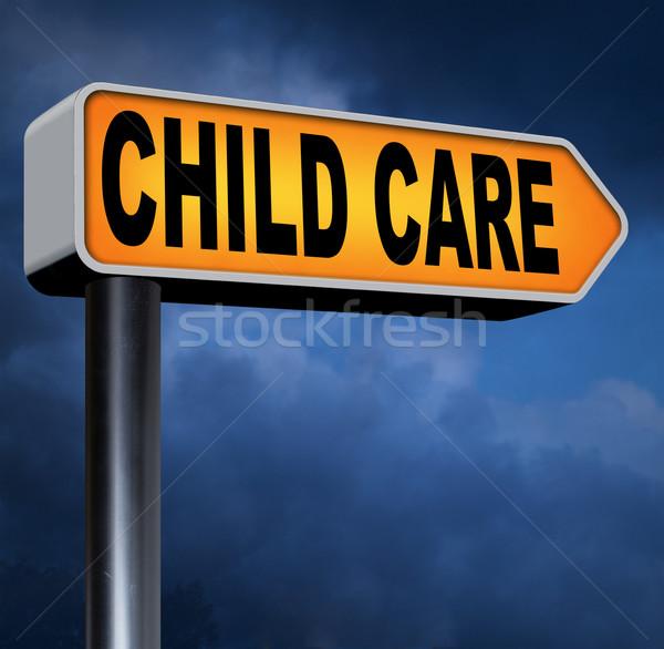Cuidado de los niños niñera par crianza de los hijos protección Foto stock © kikkerdirk