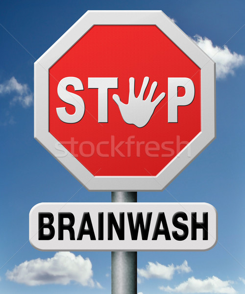 stop brainwash Stock photo © kikkerdirk