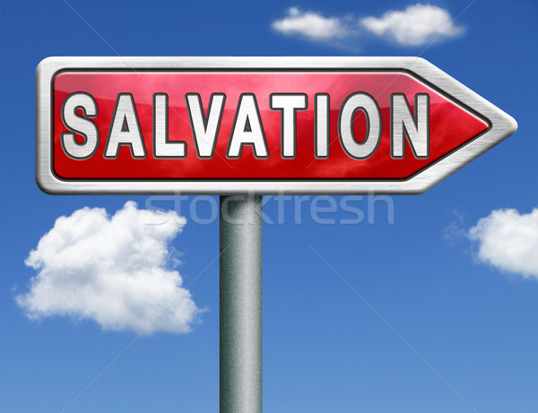 Salvation road sign arrow Stock photo © kikkerdirk