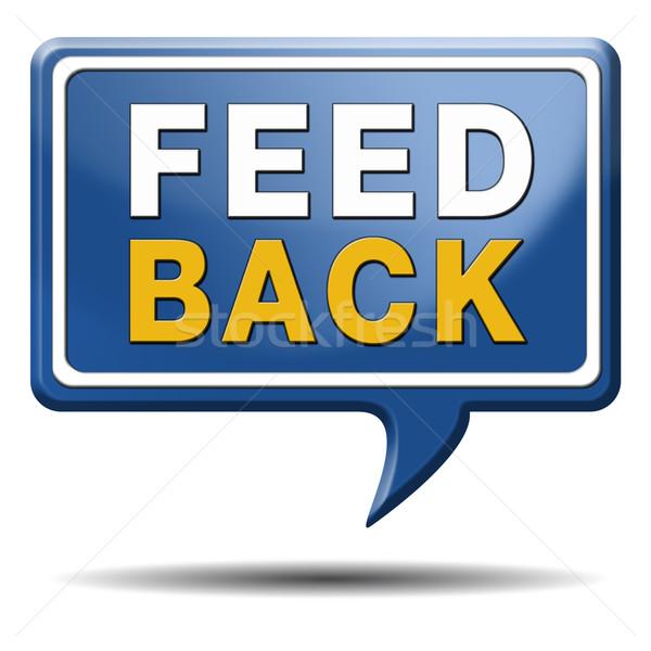 feed back icon Stock photo © kikkerdirk