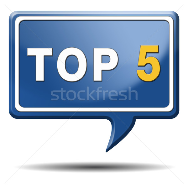 top 5 icon Stock photo © kikkerdirk