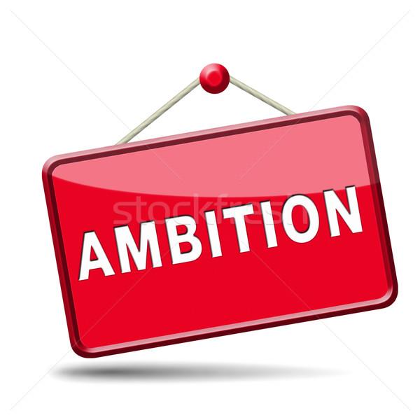 Ambitie ingesteld doelen verandering toekomst geslaagd Stockfoto © kikkerdirk