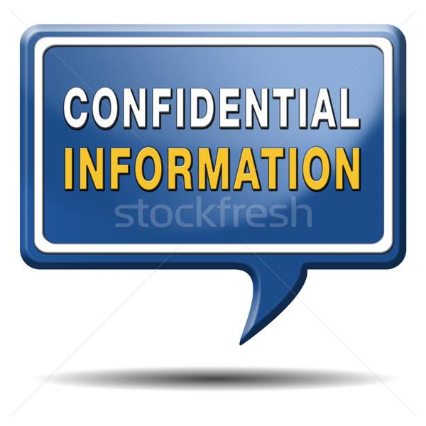 конфиденциальный информации Top тайну красный Сток-фото © kikkerdirk