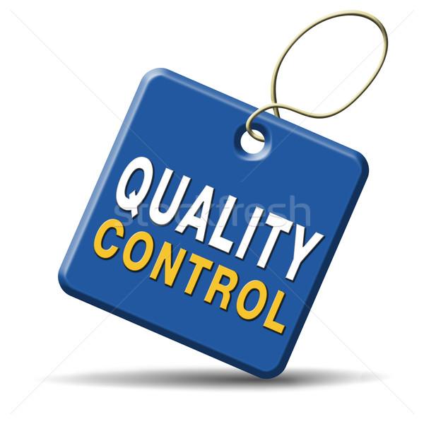 Contrôle de la qualité étiquette 100 garantie haut Photo stock © kikkerdirk