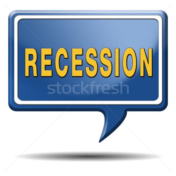Recessie crisis bank voorraad crash economisch Stockfoto © kikkerdirk