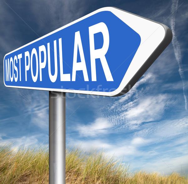 Népszerű pop szavazás táblázatok legjobb elad Stock fotó © kikkerdirk