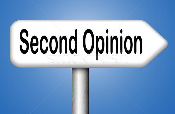 Drugi opinia zapytać inny lekarza medycznych Zdjęcia stock © kikkerdirk