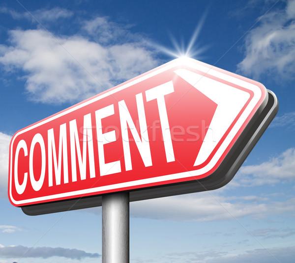 Comentario comentarios feedback blog dar Foto stock © kikkerdirk