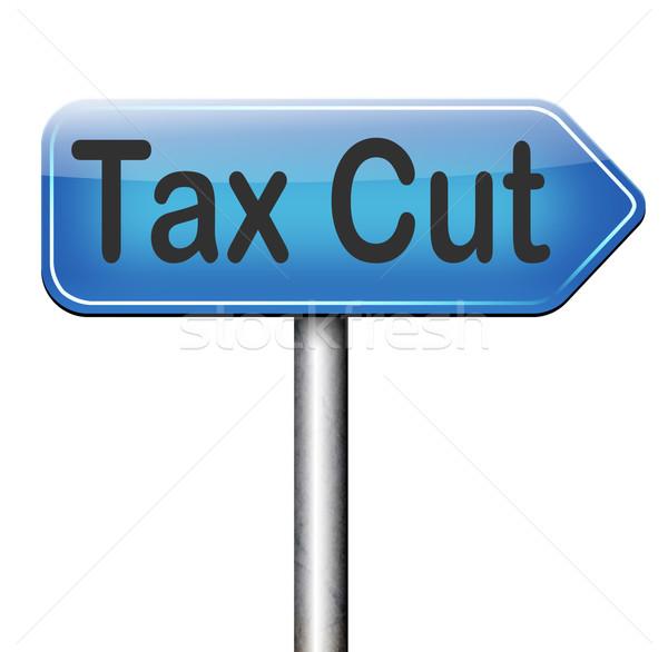 tax cut Stock photo © kikkerdirk