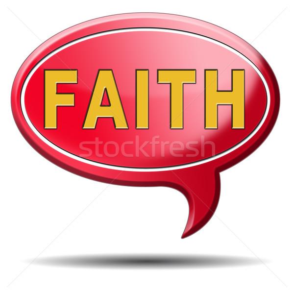 Fé ícone confie crença deus jesus Foto stock © kikkerdirk