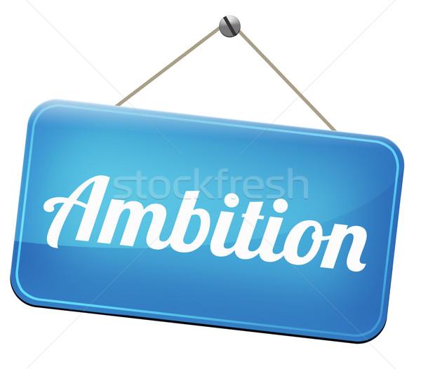 Ambition objectifs changement avenir réussi Photo stock © kikkerdirk