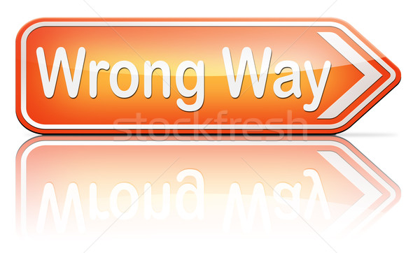 wrong way sign Stock photo © kikkerdirk