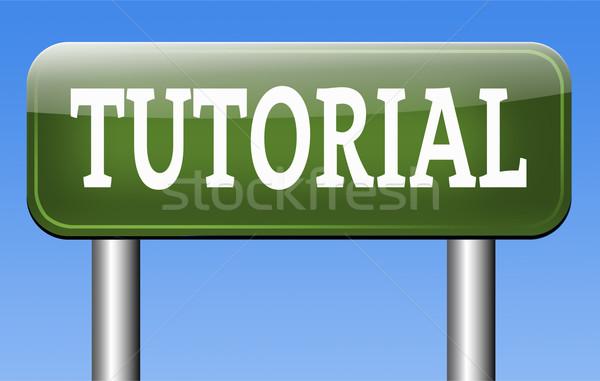 Tutorial on-line aprendizagem vídeo classe educação Foto stock © kikkerdirk
