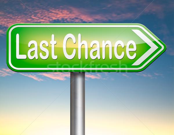 Utolsó esély végső figyelmeztetés alkalom hívás Stock fotó © kikkerdirk