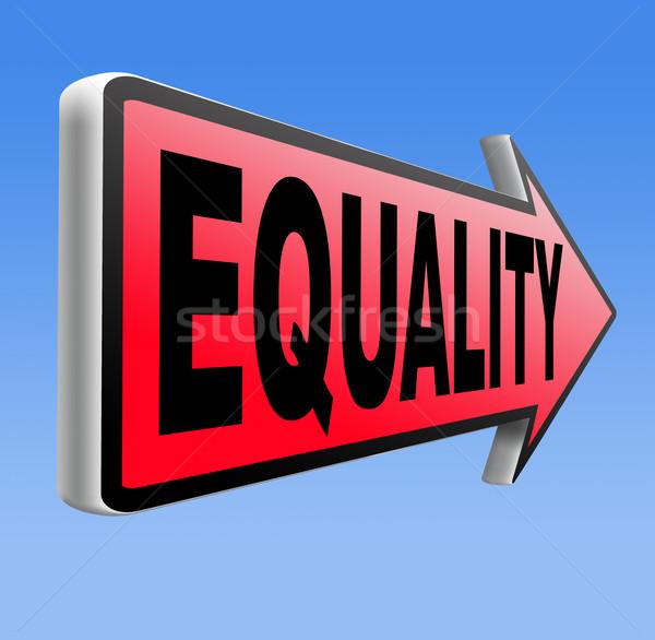 Igualdade solidariedade todo o mundo igual direitos oportunidades Foto stock © kikkerdirk