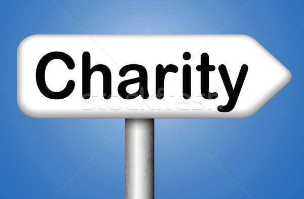 Jótékonyság adomány alap pénz segítség adományoz Stock fotó © kikkerdirk