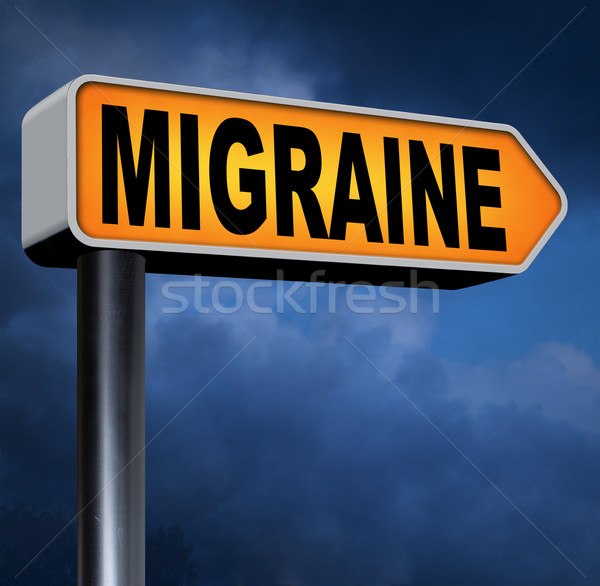 migraine Stock photo © kikkerdirk
