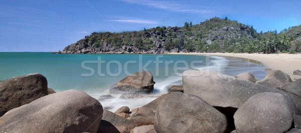 granite boulders on beach Stock photo © kikkerdirk