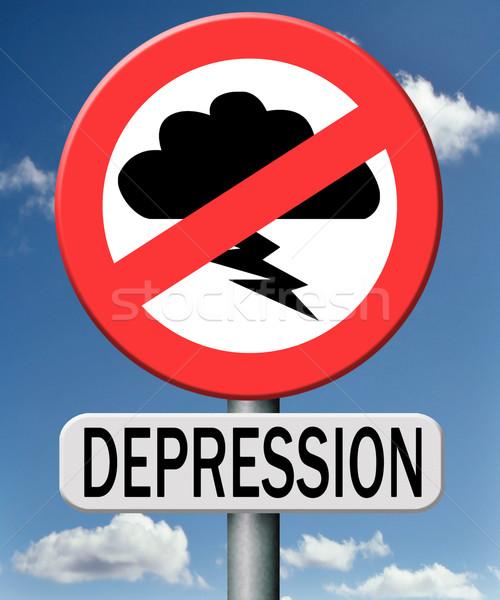 Depresión económico crisis mal suerte Foto stock © kikkerdirk
