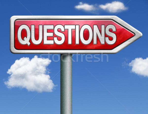 questions road sign arrow Stock photo © kikkerdirk