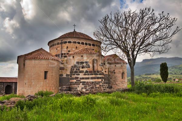medieval church Italy sardinia Stock photo © kikkerdirk