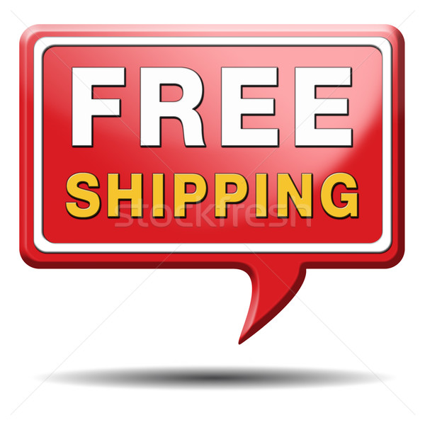 Gratis verzending levering om web winkel Stockfoto © kikkerdirk