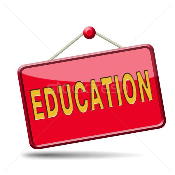 education icon Stock photo © kikkerdirk