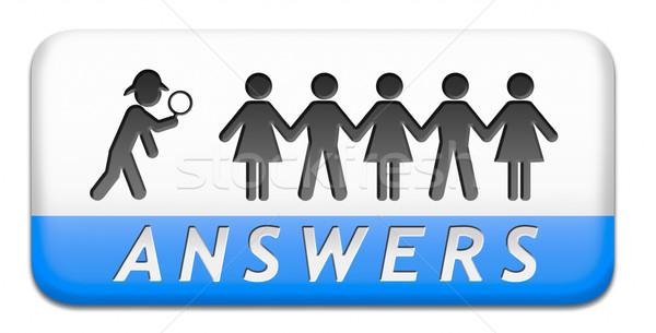 Encontrar respostas perguntas pesquisar solução informação Foto stock © kikkerdirk