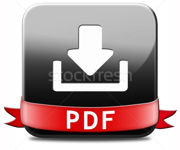 Pdf скачать кнопки файла документа Сток-фото © kikkerdirk