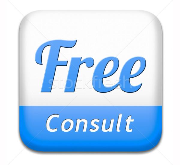 свободный консультации консультация бесплатно столе Сток-фото © kikkerdirk