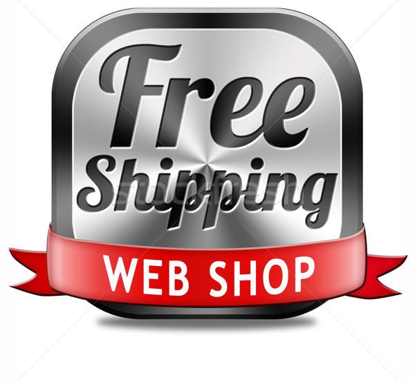 Gratis web winkel gratis verzending pakketdienst om Stockfoto © kikkerdirk