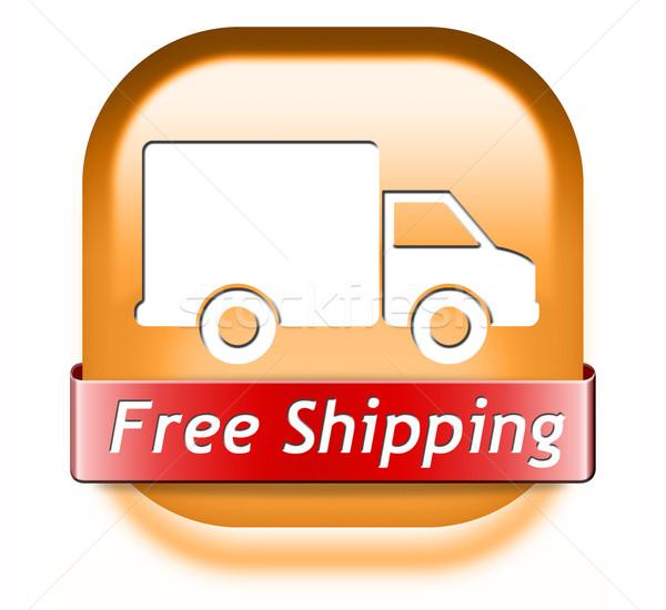 Gratis verzending pakketdienst om web winkel Stockfoto © kikkerdirk