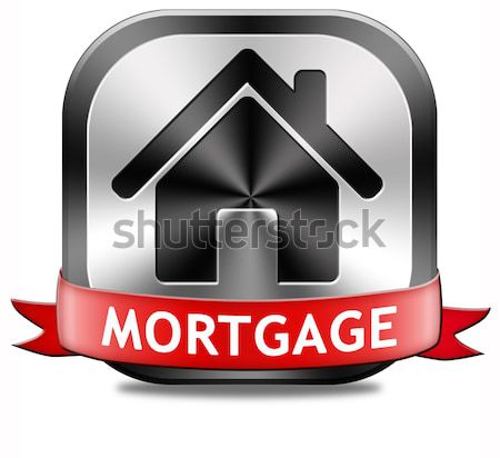 mortgage button Stock photo © kikkerdirk