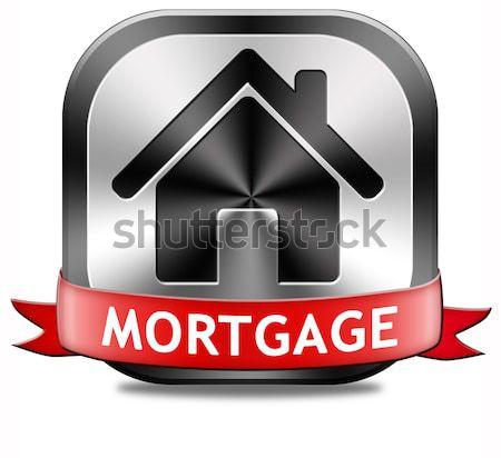 Mutuo pulsante segno casa prestito Foto d'archivio © kikkerdirk