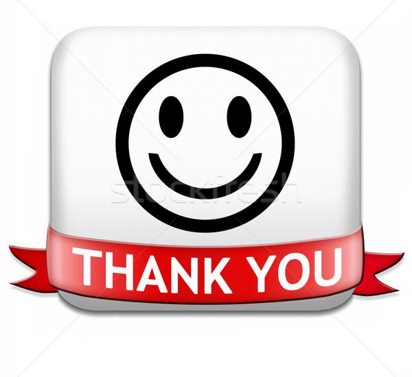 Köszönjük jegyzet közmondás köszönet felirat kifejez Stock fotó © kikkerdirk