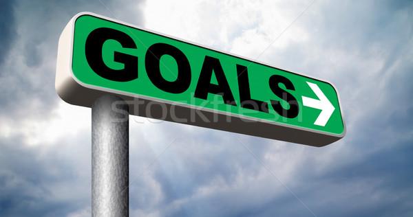 set goals Stock photo © kikkerdirk