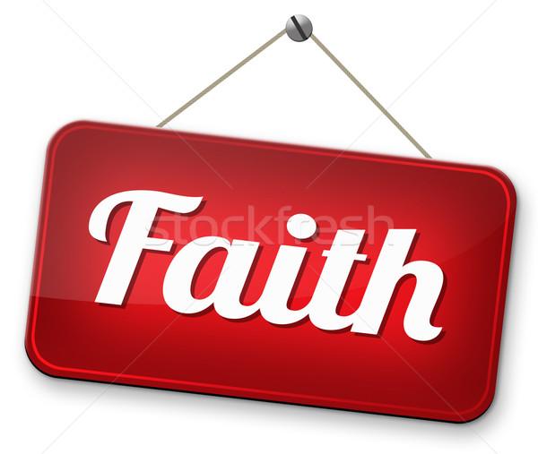Wiary zaufania boga Jezusa święty Biblii Zdjęcia stock © kikkerdirk